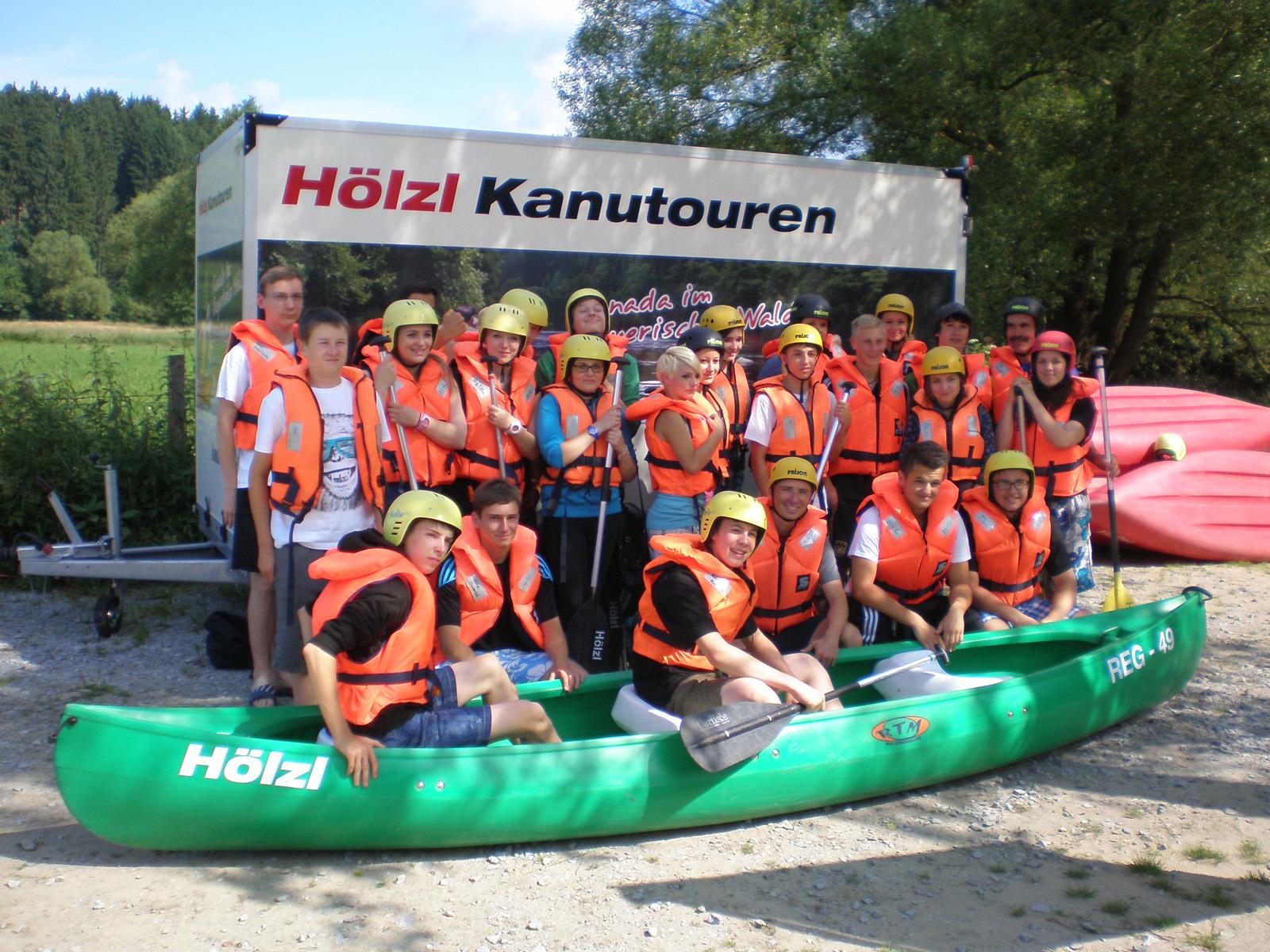 Klassenfahrt im Kanu